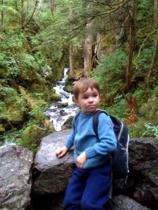 Ethan White goes hiking on Herring Cove Trail
