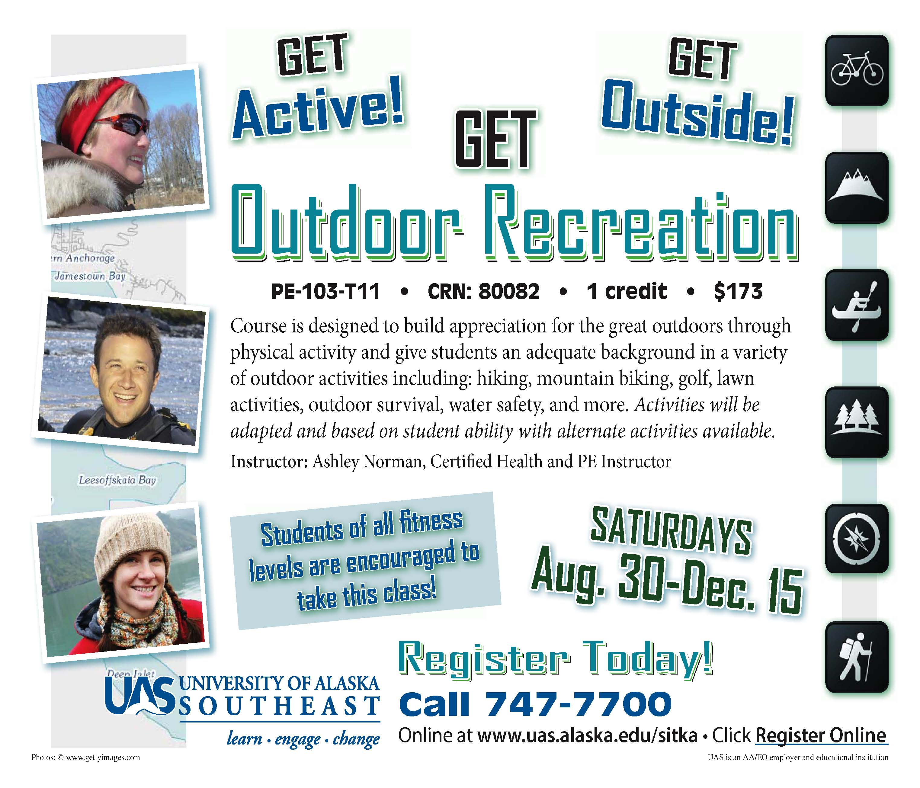 UAS Sitka Campus Offers One Credit Outdoor Recreation Class In Fall
