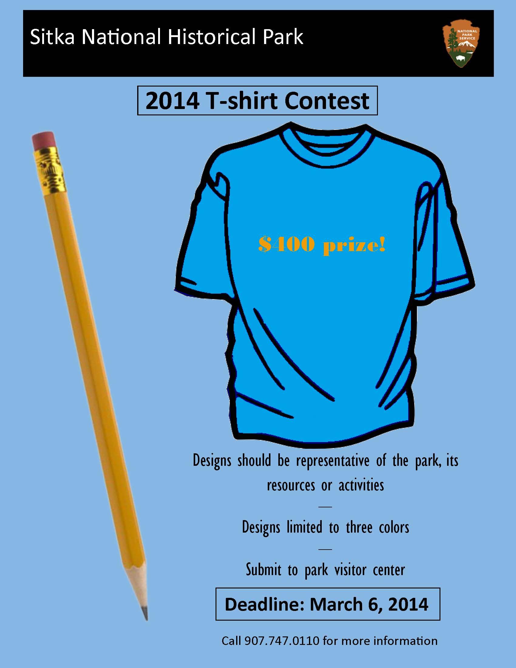 Shirt design contest - 2014 Sitka Nhp Tshirt Contest Sitkanationalhistoricalparksign