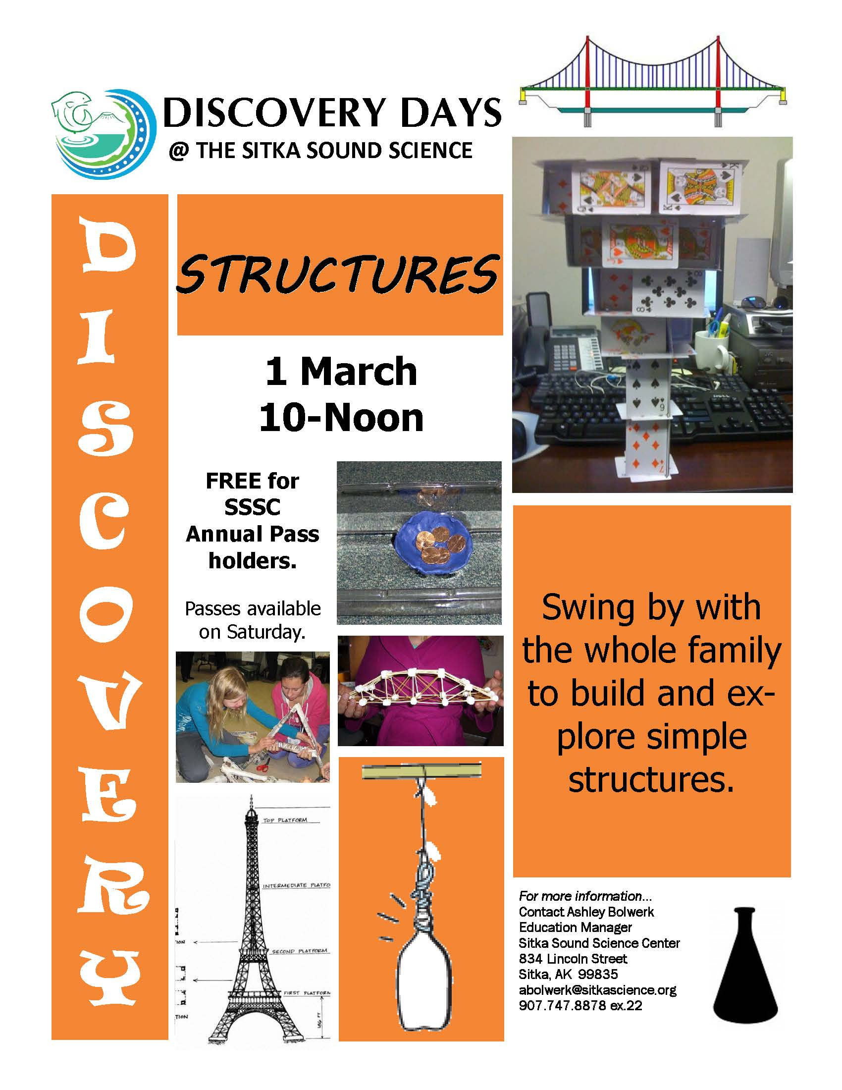 next discovery days program at sitka sound science center to be about structures get out sitka. Black Bedroom Furniture Sets. Home Design Ideas