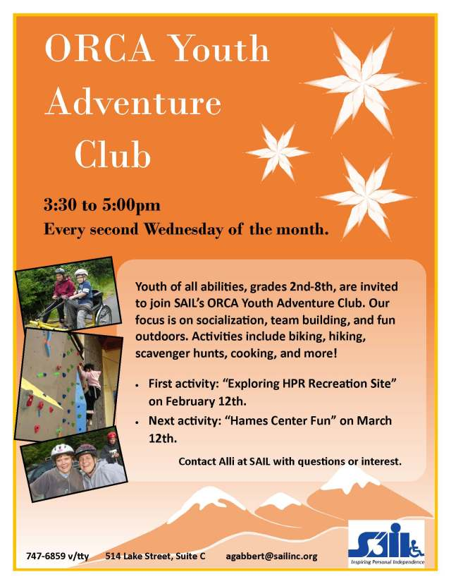 Youth Adventure Club Flyer