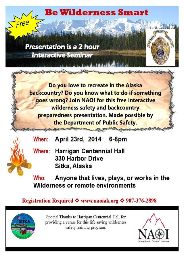 Sitka Community Be Wilderness Smart Flyer