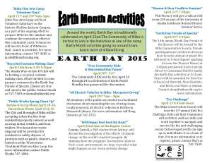 Earth month 2015Flyer