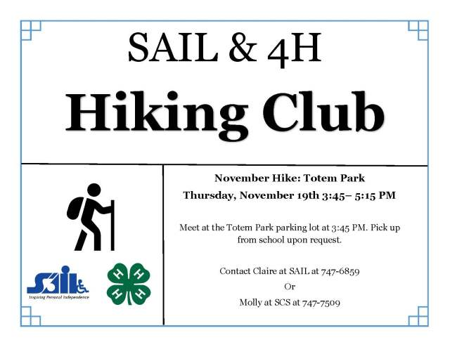 November SAIL and 4H hike