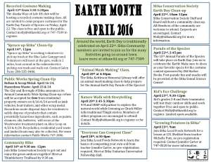 Earth month 2016Flyer