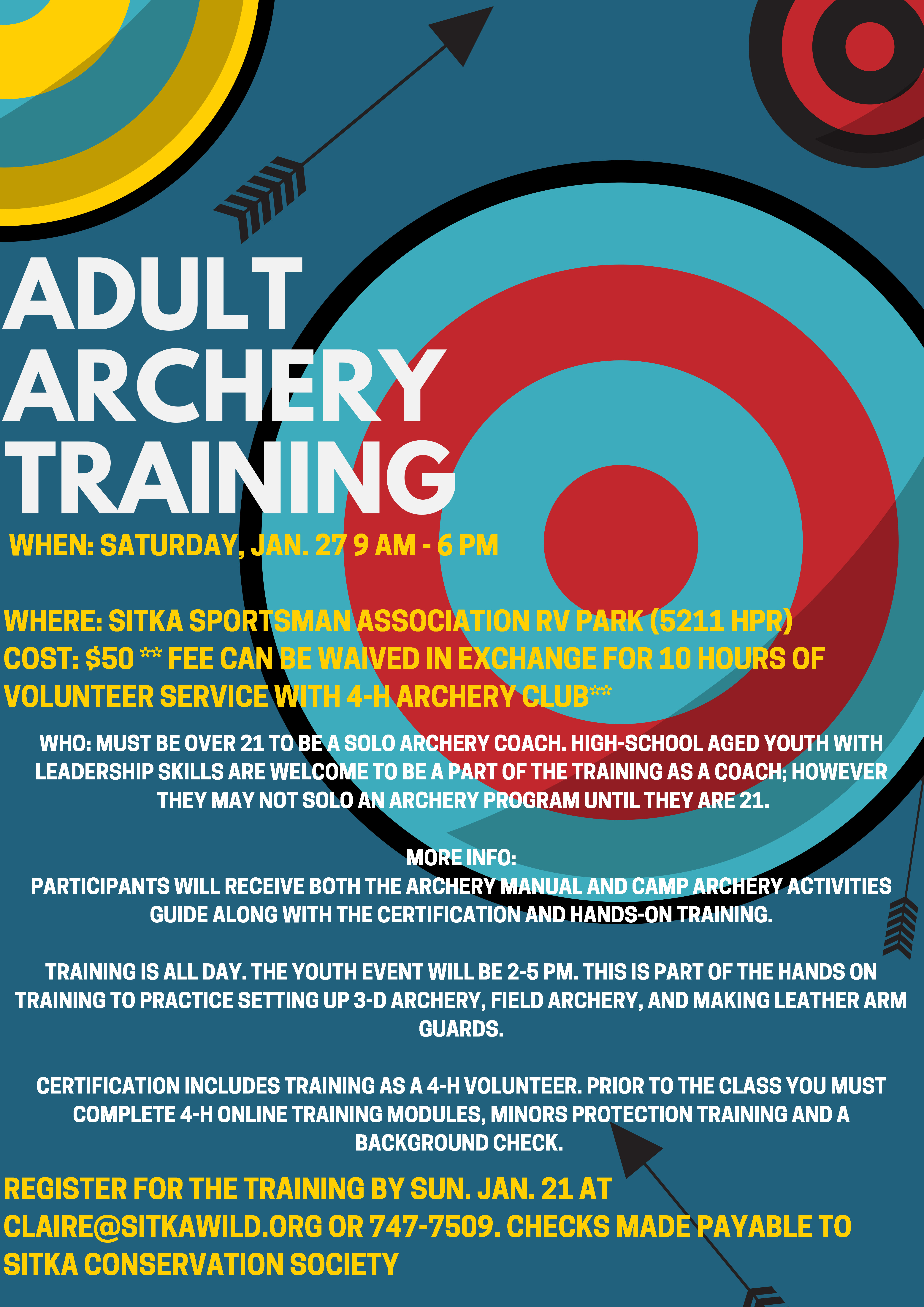 Sitka 4 H Club Offers Adult Archery Coach Training And Youth Archery